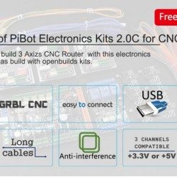 A Set of PiBot Electronics Kits 2.0C for CNC (Free Shipping by DHL)
