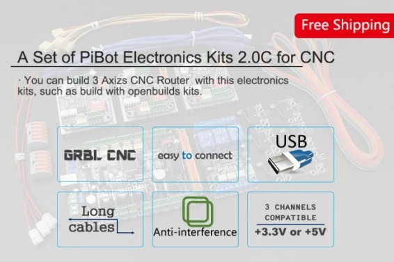 A Set of PiBot Electronics Kits 2.3L for Laser Engraver (Free Shipping)