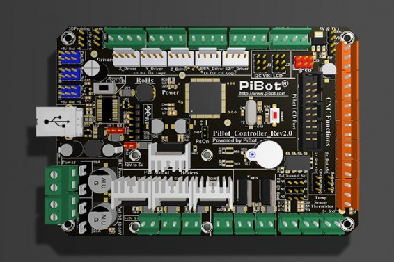 A Set of PiBot Electronics Kits 2.3DM for 3D Printer - Multi-Driver Board Version (Free Shipping)