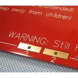 MK2 PCB Heated Bed  200x200mm 2 layer, 35μm copper  GOLDEN VERSION